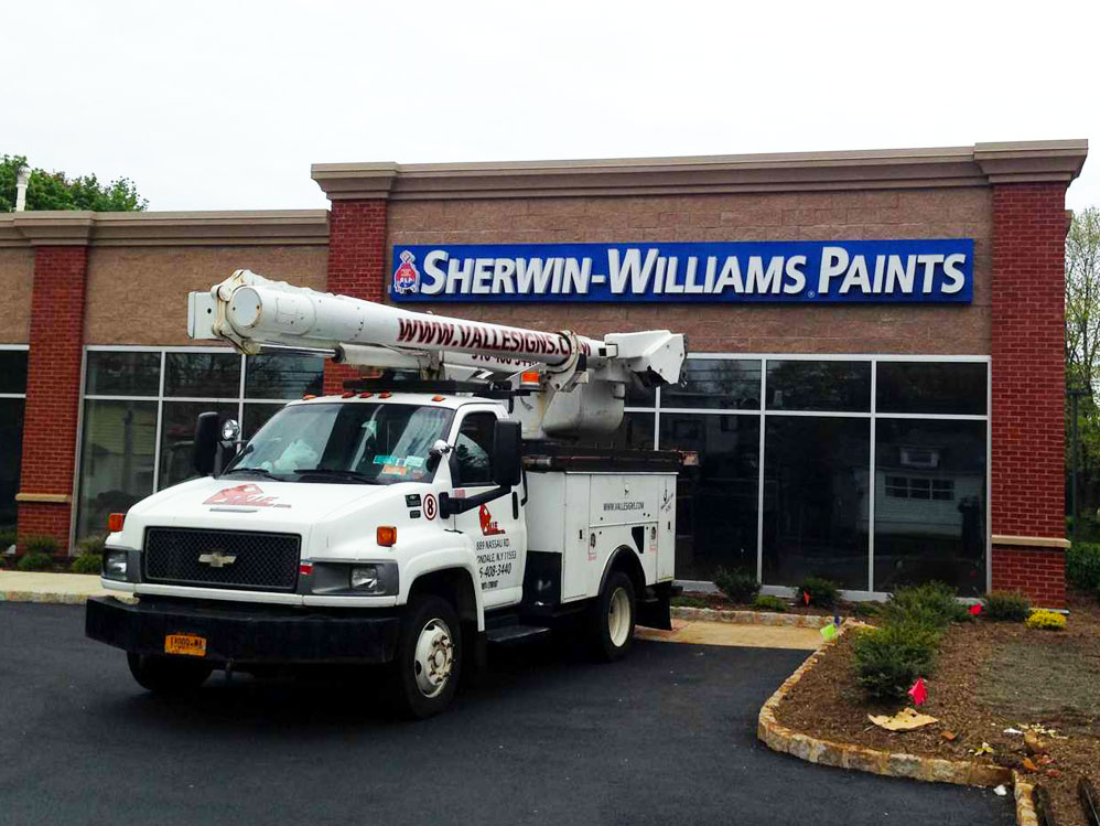 Sherwin Williams Sign Installation