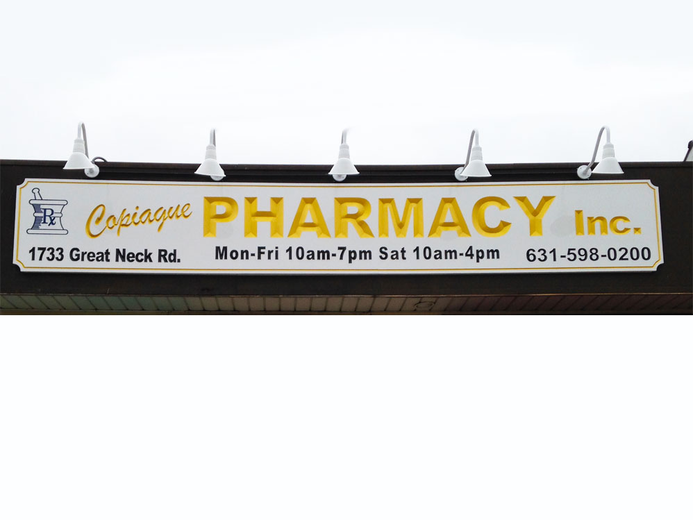 Copiague Pharmacy Carved Sign