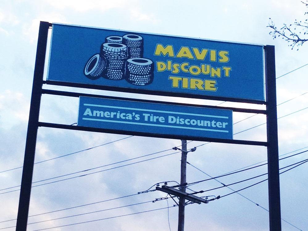 Mavis Discount Tire Architectural Sign
