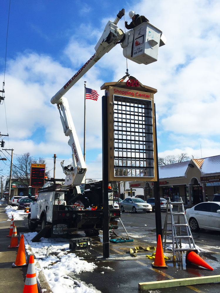 Monument Sign Installation NY