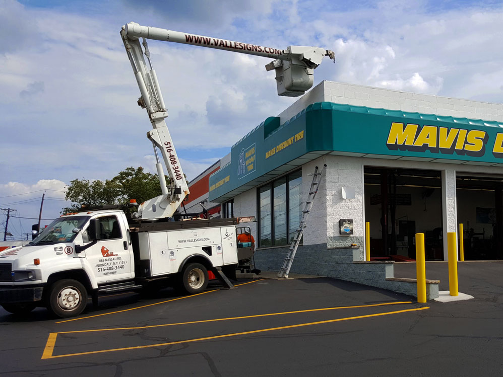 Commercial Awning Sign Installation Long Island NY