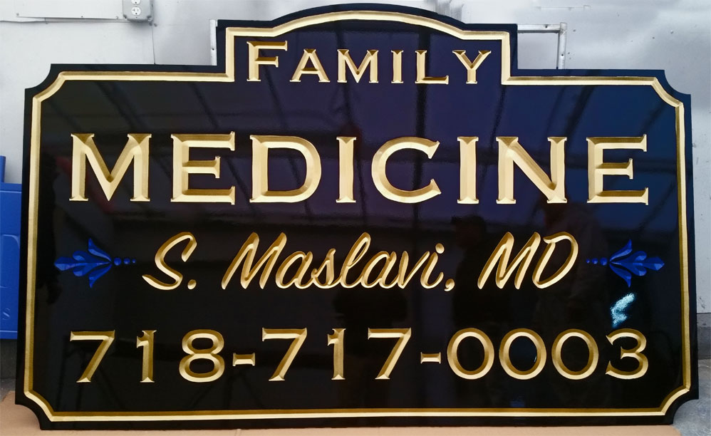 Gold Carved Signs Nassau County NY