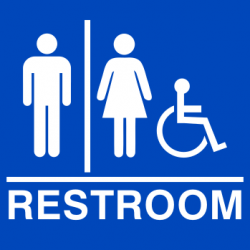 ADA Compliant Restroom Sign