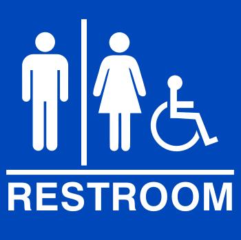 ADA Compliant Restroom Sign