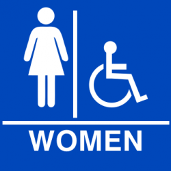 Women's Restroom Sign.