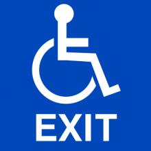 ADA Compliant Handicap Exit Sign