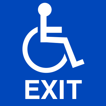 ADA Compliant Handicap Exit Sign