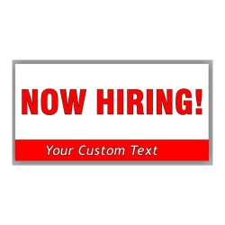 Custom Now Hiring Banners