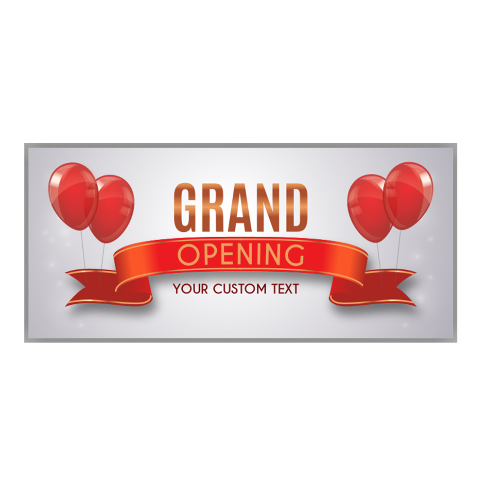 grand opening banner with custom text