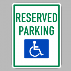 Handicap Reserved Parking Sing