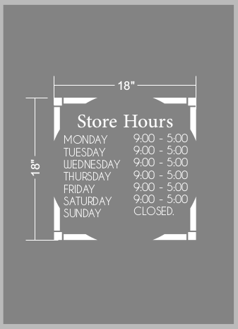 Vinyl Decal Store Hours