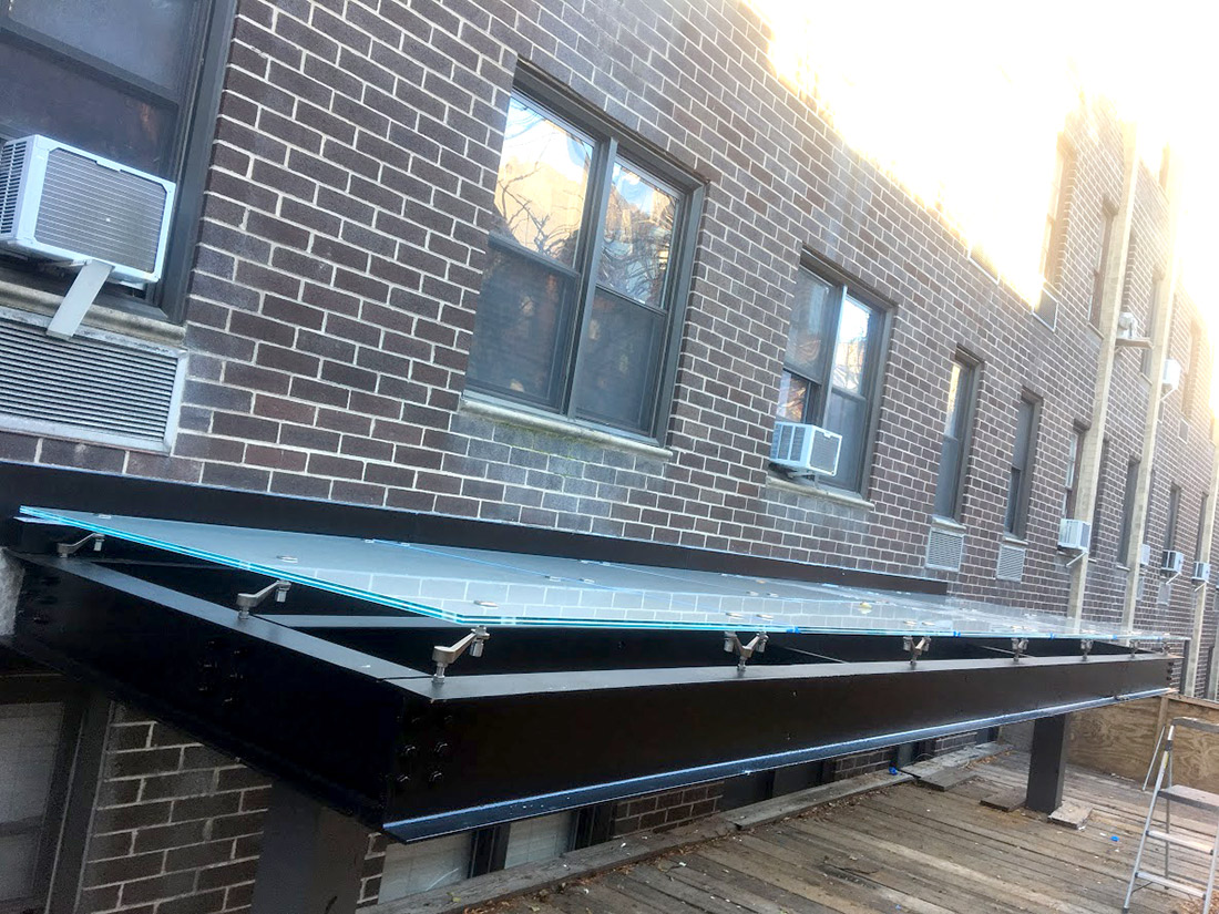 Commercial Glass Awnings NYC