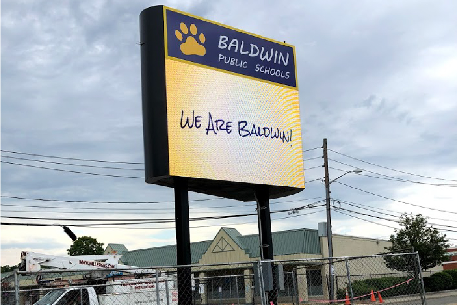Pylon Signs Baldwin Public High School – Long Island New York