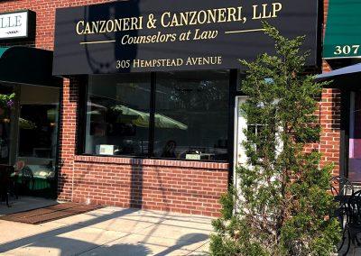 Canzoneri & Canzoneri LLP Awning Installation