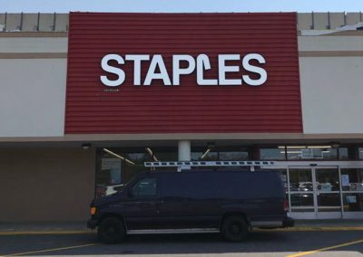 Staples Channel Letters Installation