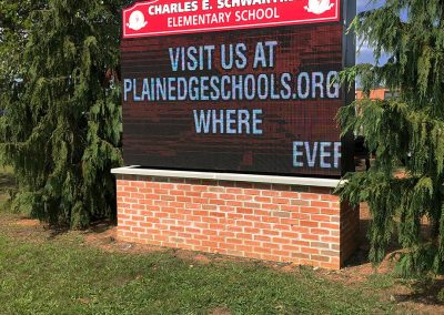 Charles E. Schwarting Elementary School Monument Sign installation