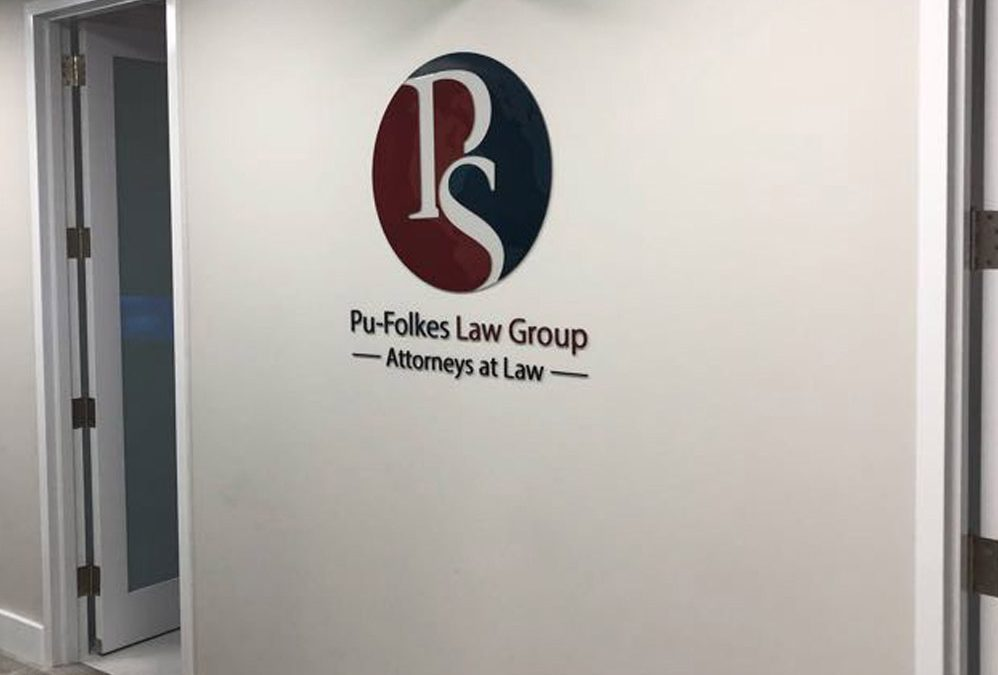 Interior Sign Pu-Folkes Law Group Attorneys at Law