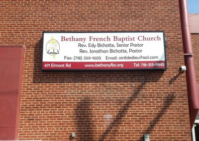 Bethany French Baptist church Light Box