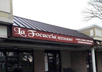La Focaccia Restaurant Light Box