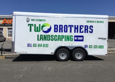 Two Brothers Landscaping Corp Truck Lettering