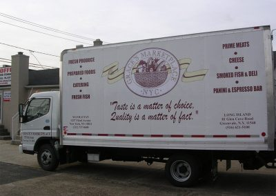 Grace's Marketplace NYC Truck Lettering