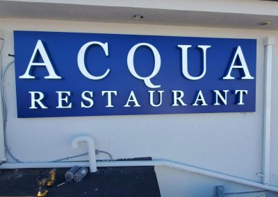 Channel Letters Acqua Restaurant