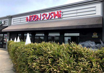 Channel Letters Nisen Sushi
