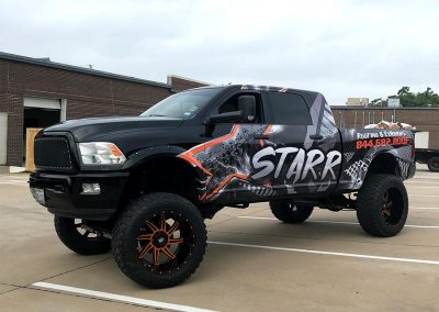 Starr Roofing Exteriors Truck Wrap