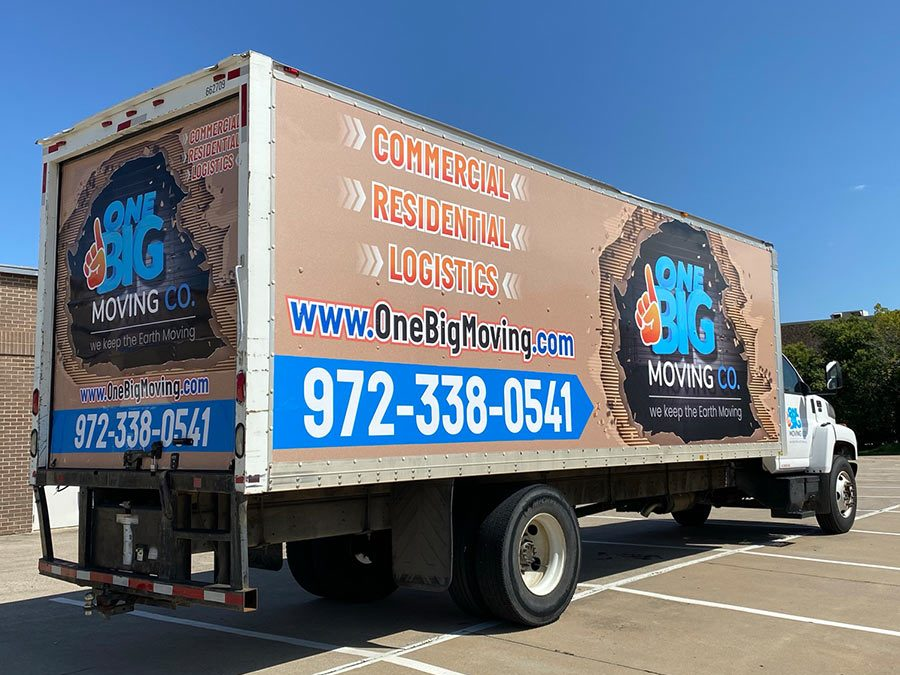One Big Moving Co Truck Wrap