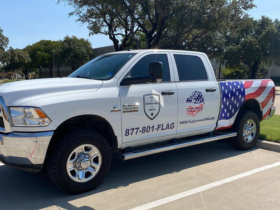 Flag Systems DFW Truck Wrap