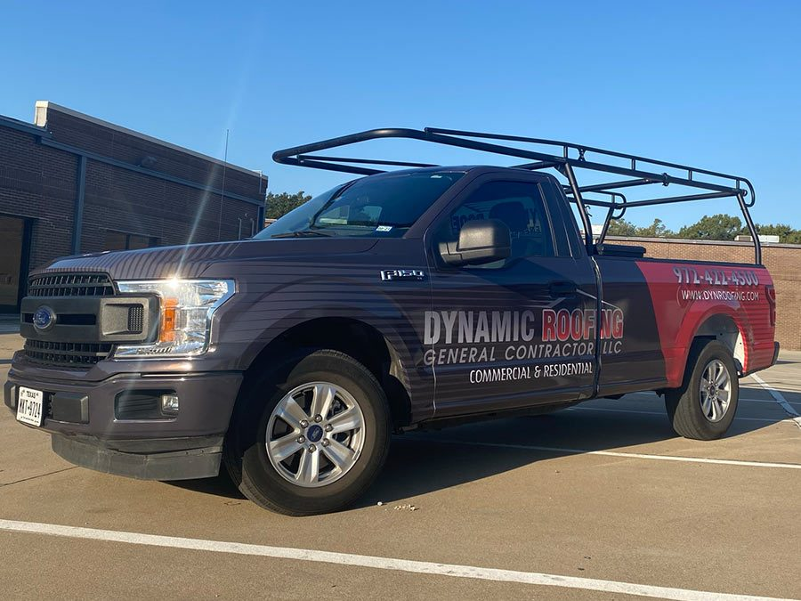 Dynamic Roofing Truck Wrap