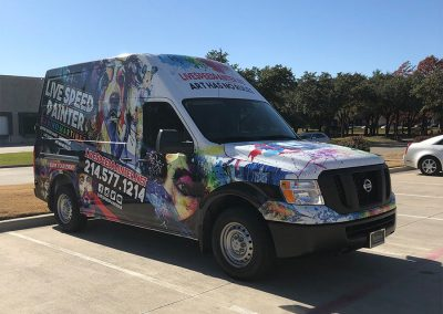 Live Speed Painter Truck Wrap