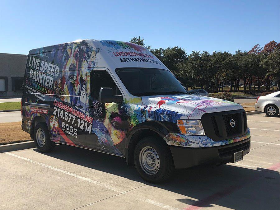 Live Speed Painter Truck Wrap