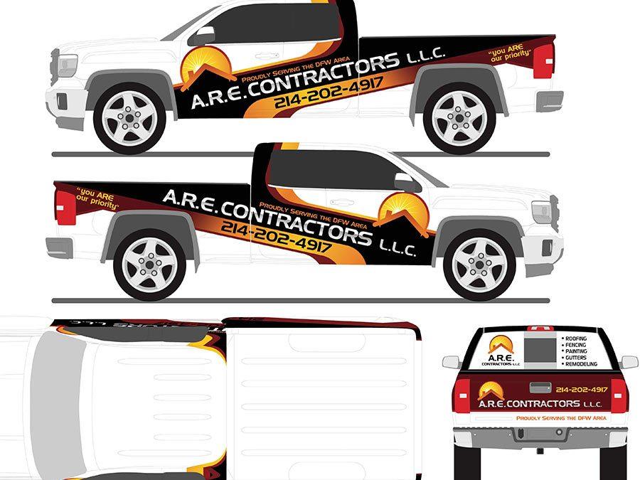 ARE Contractors Truck Wrap