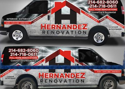 Hernandez Home Renovation Truck Wrap