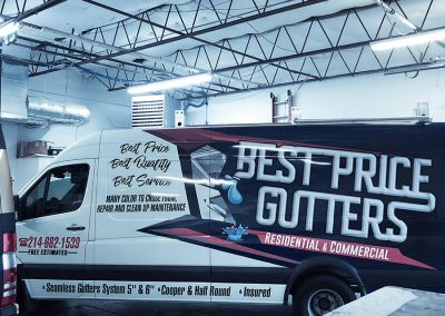 Best Price Gutters Truck Wraps